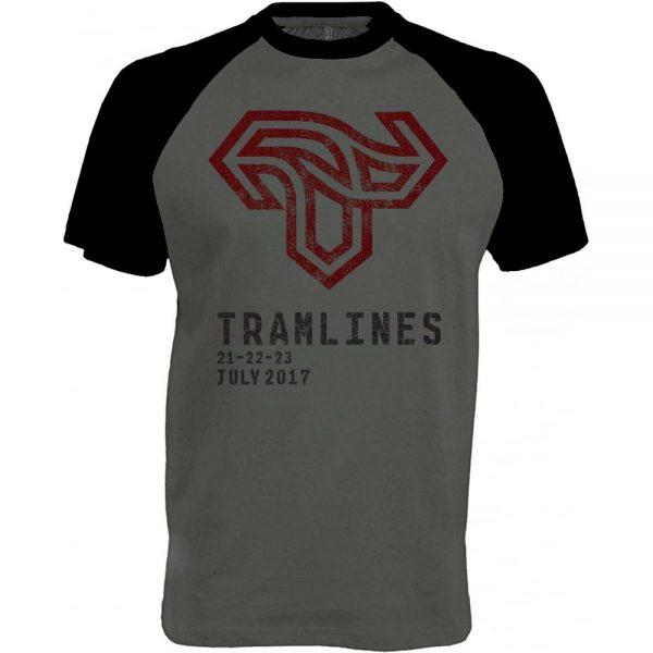 Tramlines Baseball Tee Front